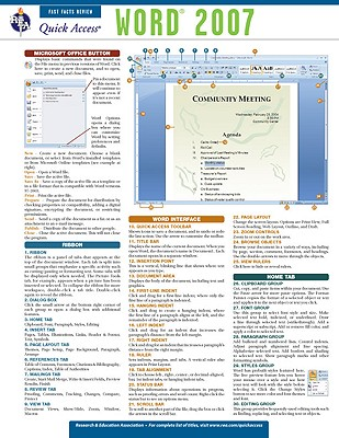 Word 2007 By Research and Education Association